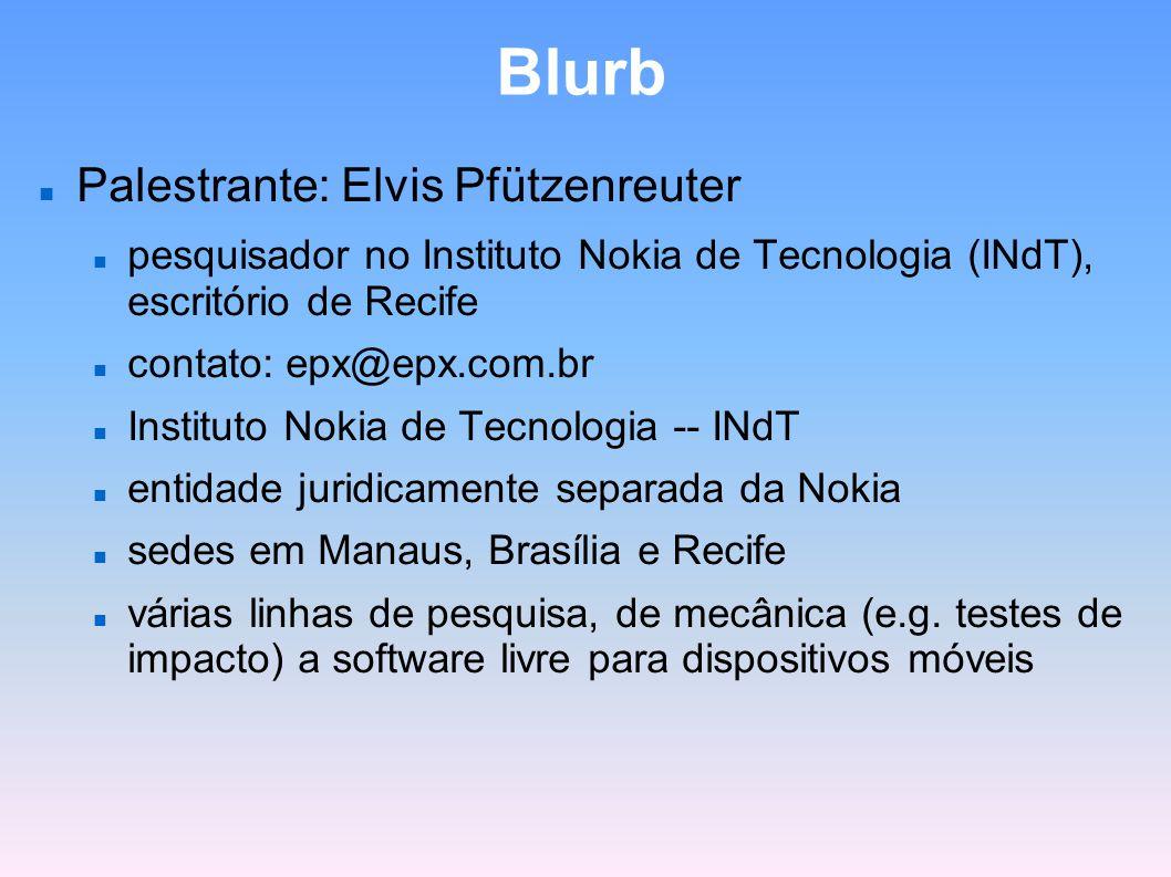 Blurb Palestrante: Elvis Pfützenreuter