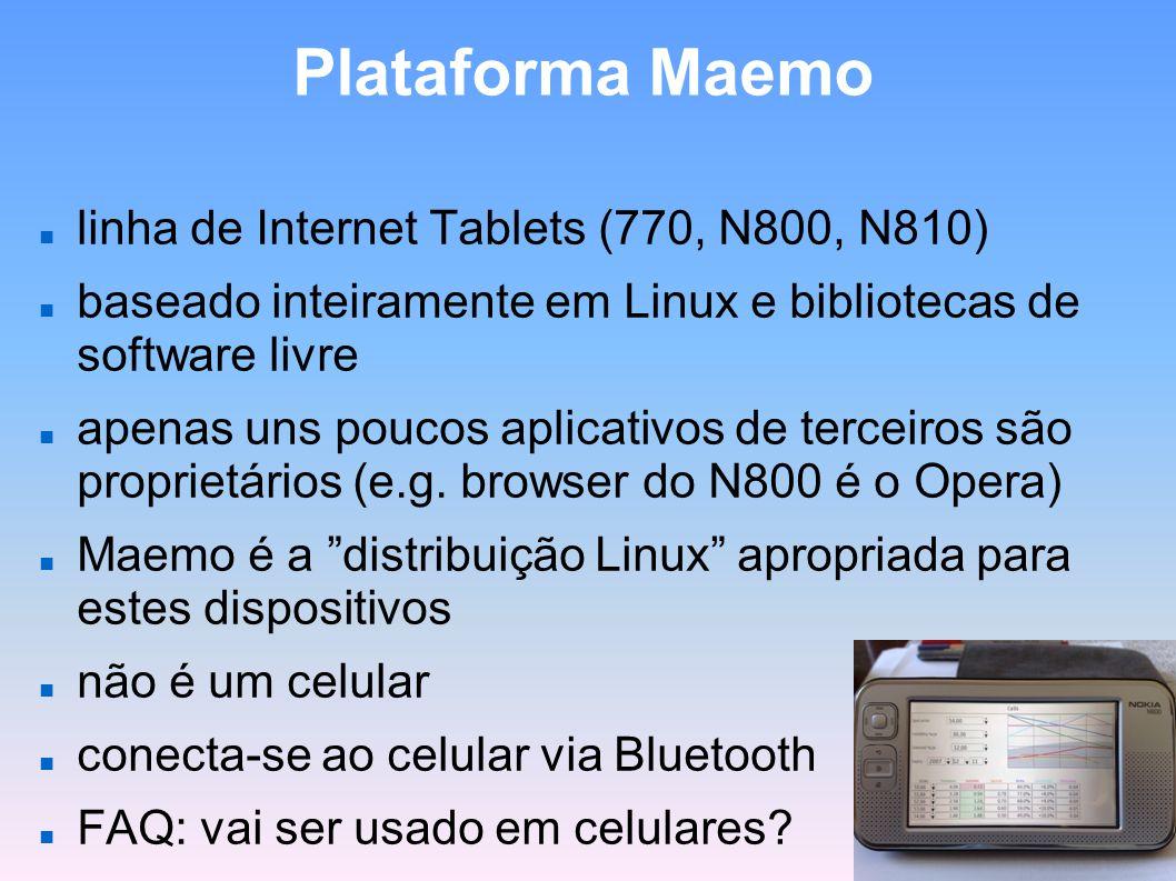 Plataforma Maemo linha de Internet Tablets (770, N800, N810)