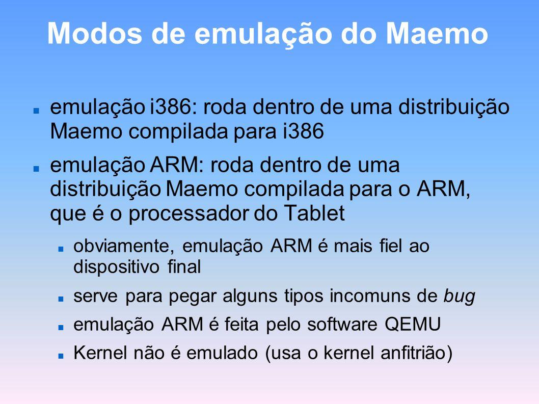 Modos de emulação do Maemo
