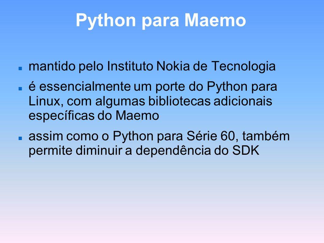 Python para Maemo mantido pelo Instituto Nokia de Tecnologia