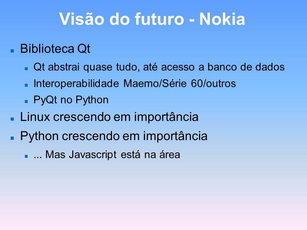 Visão do futuro - Nokia Biblioteca Qt Linux crescendo em importância