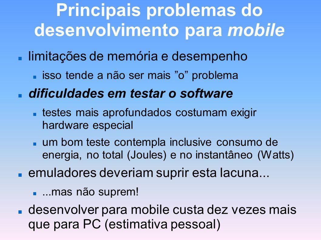 Principais problemas do desenvolvimento para mobile