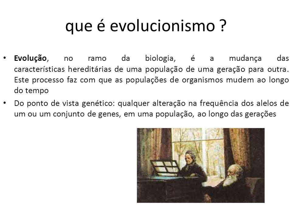 que é evolucionismo