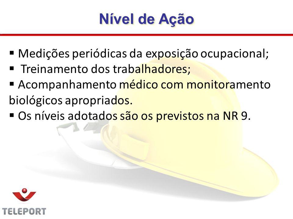 Nível de Ação Medições periódicas da exposição ocupacional;