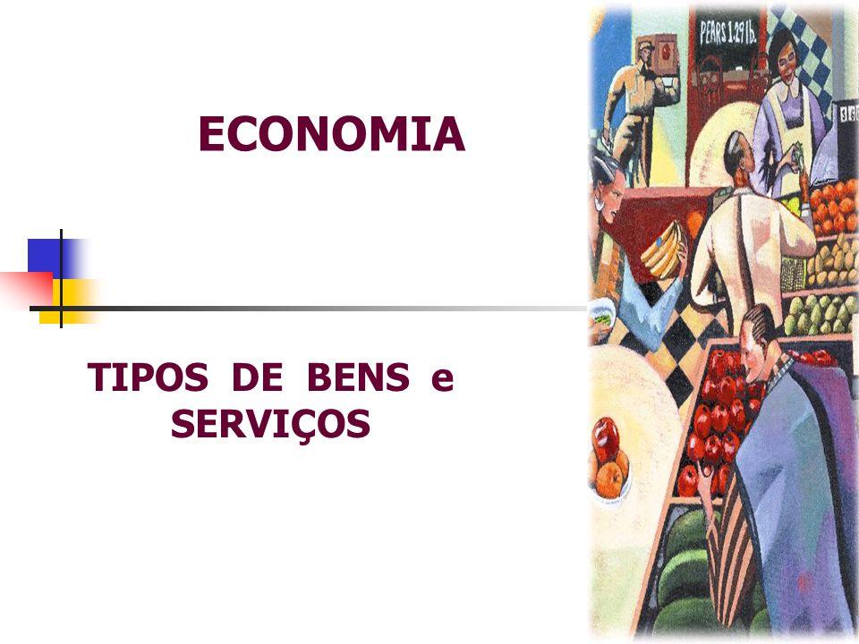 TIPOS DE BENS e SERVIÇOS
