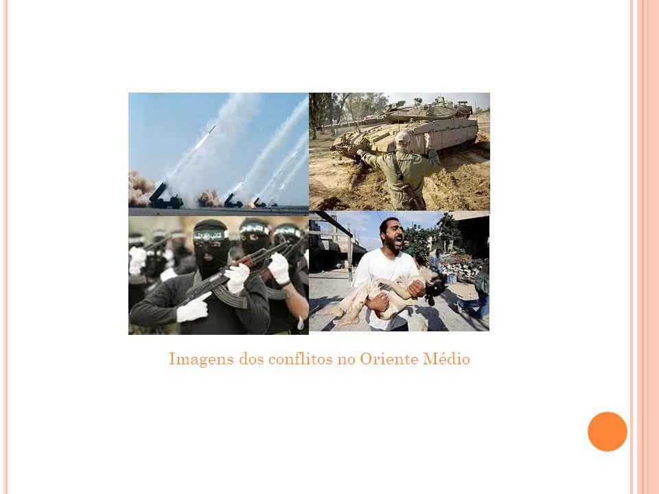 Imagens dos conflitos no Oriente Médio
