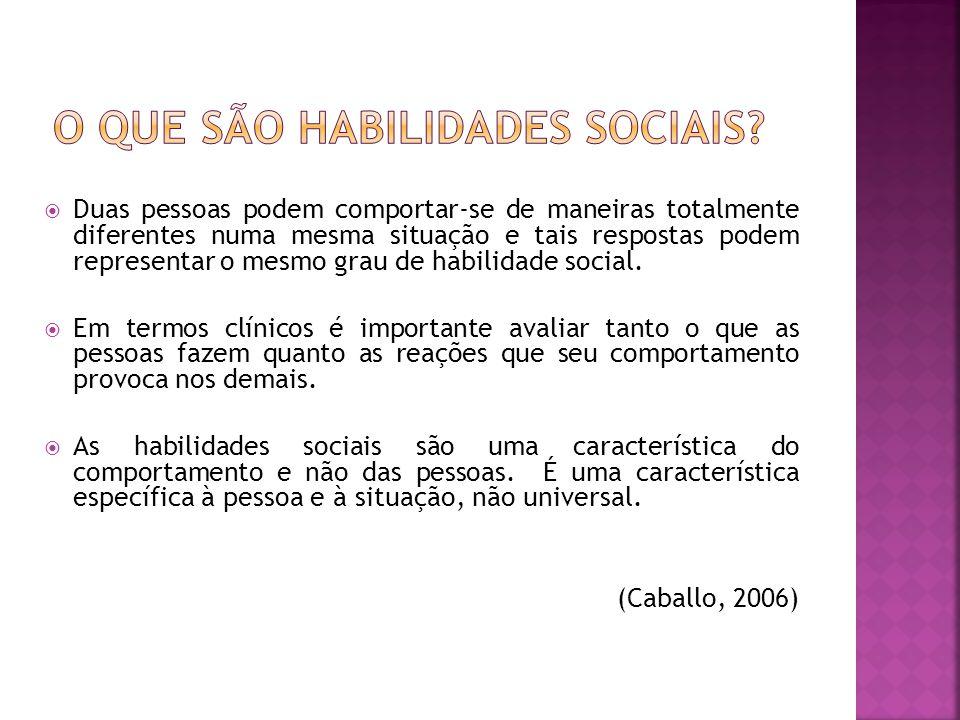 O que são habilidades sociais