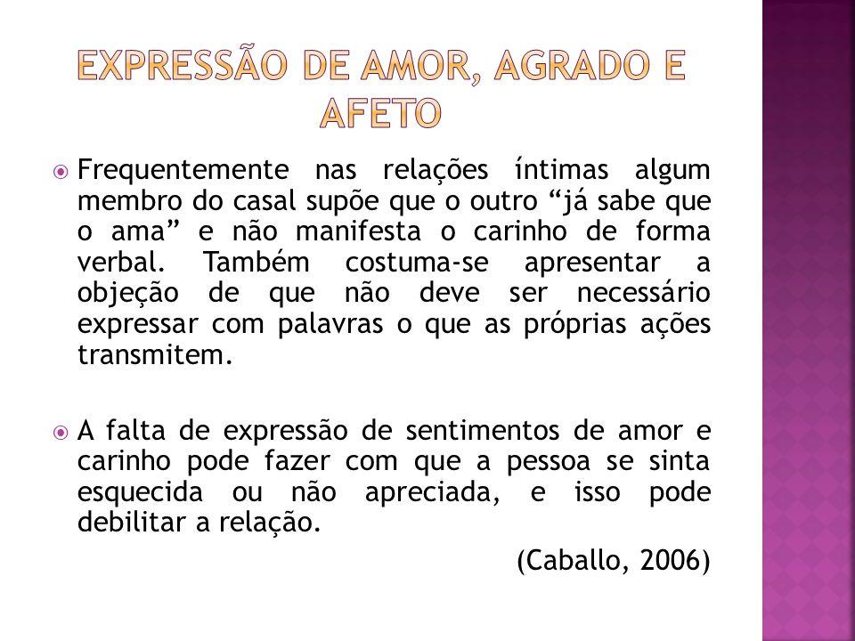 Expressão de amor, agrado e afeto