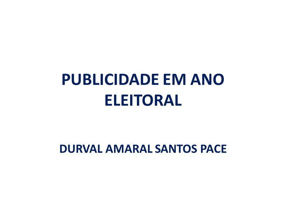 PUBLICIDADE EM ANO ELEITORAL