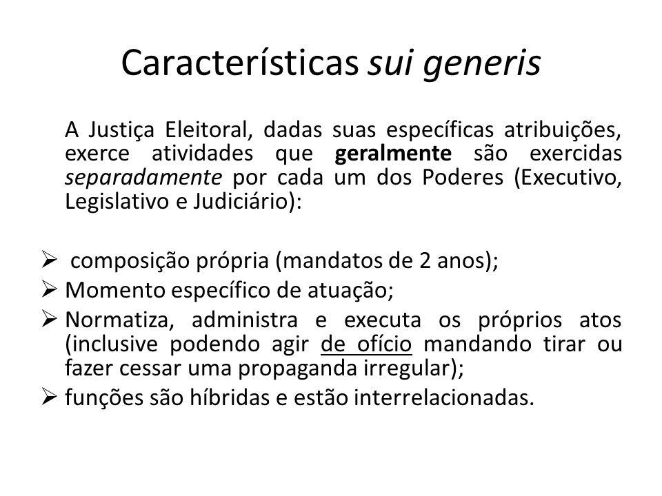 Características sui generis