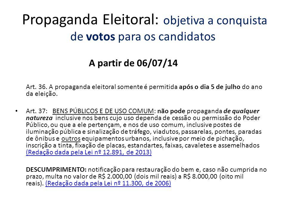 Propaganda Eleitoral: objetiva a conquista de votos para os candidatos