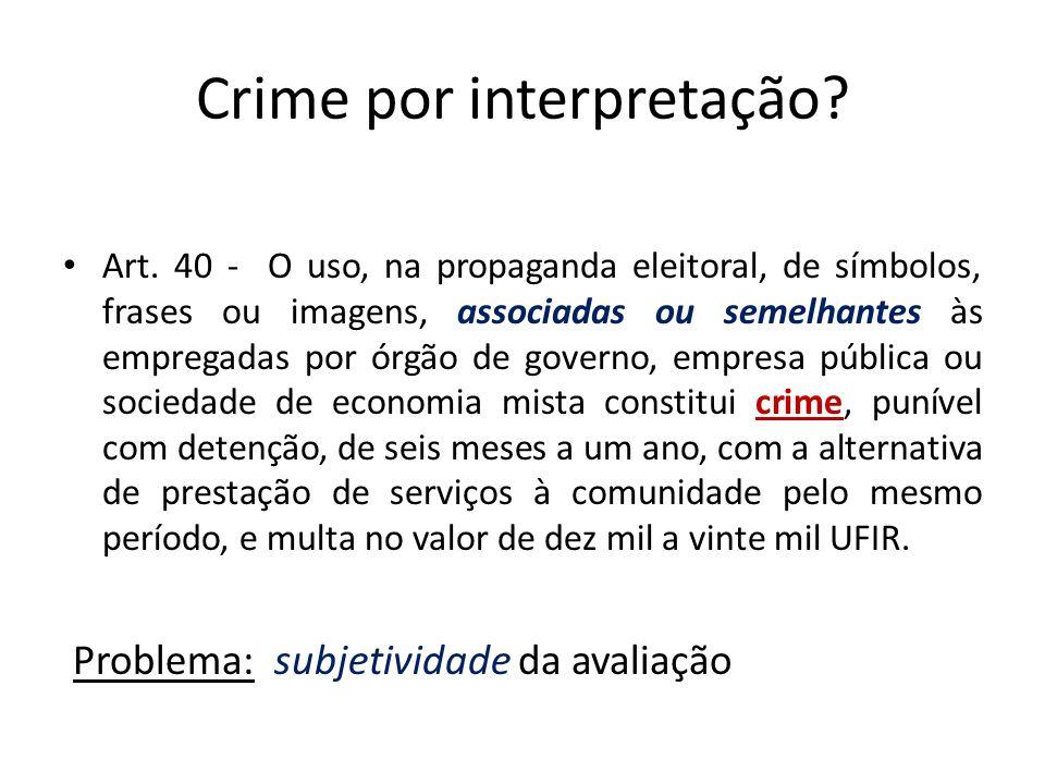 Crime por interpretação