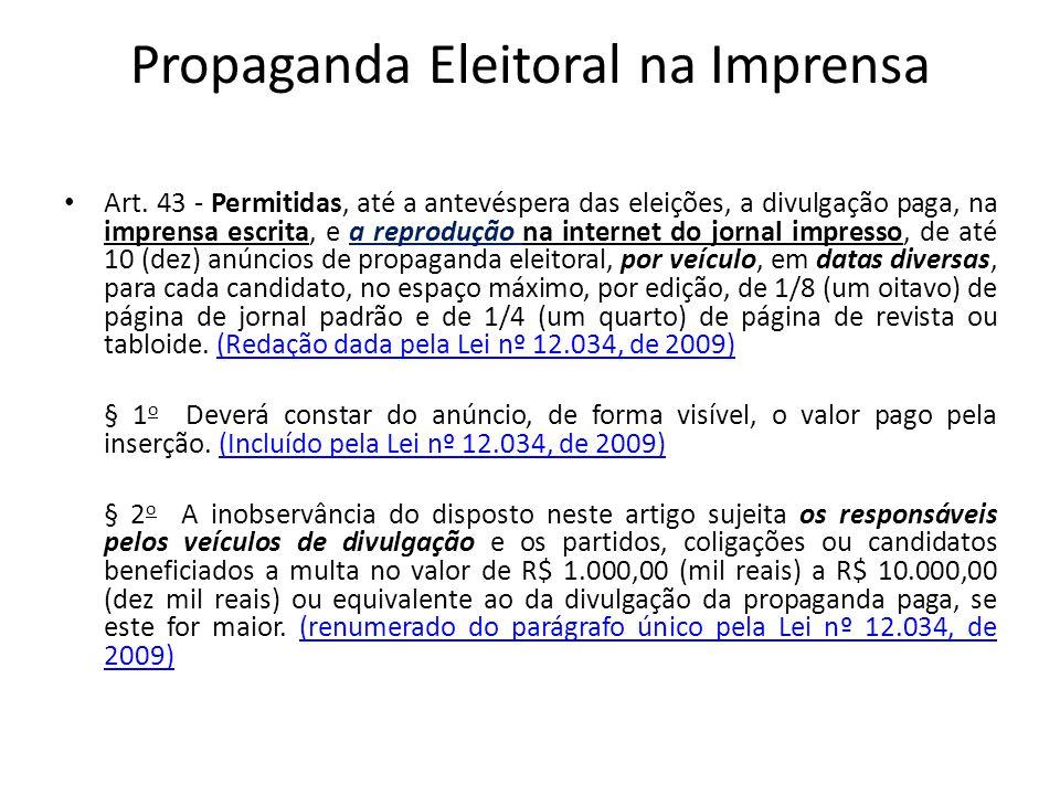 Propaganda Eleitoral na Imprensa