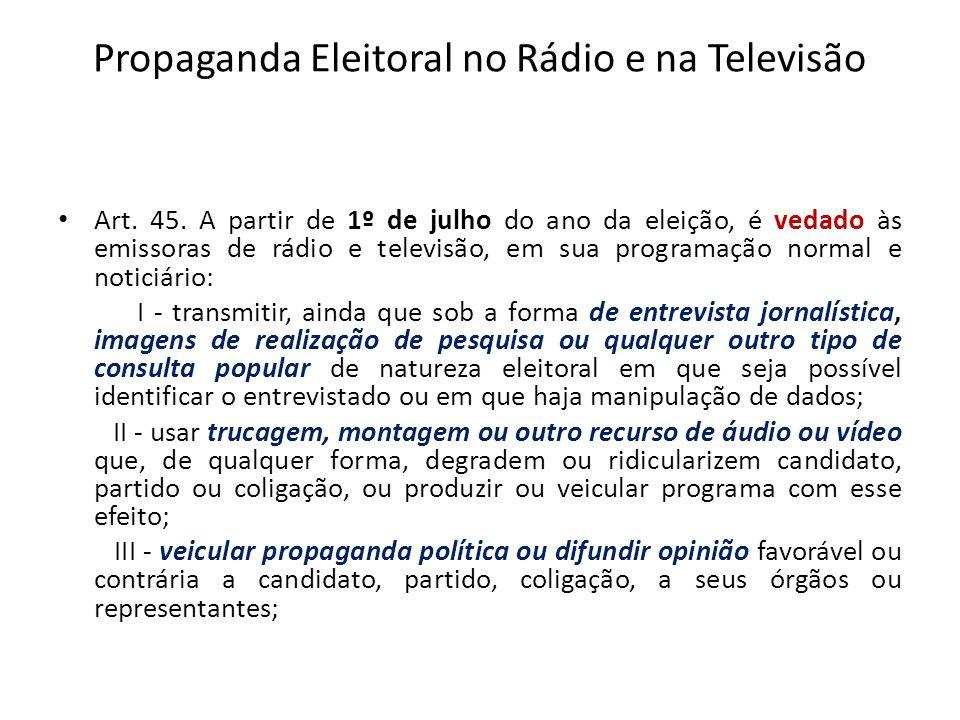 Propaganda Eleitoral no Rádio e na Televisão