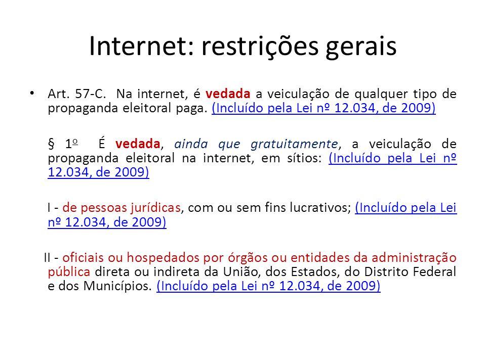 Internet: restrições gerais