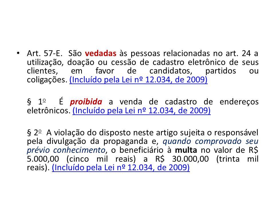Art. 57-E. São vedadas às pessoas relacionadas no art