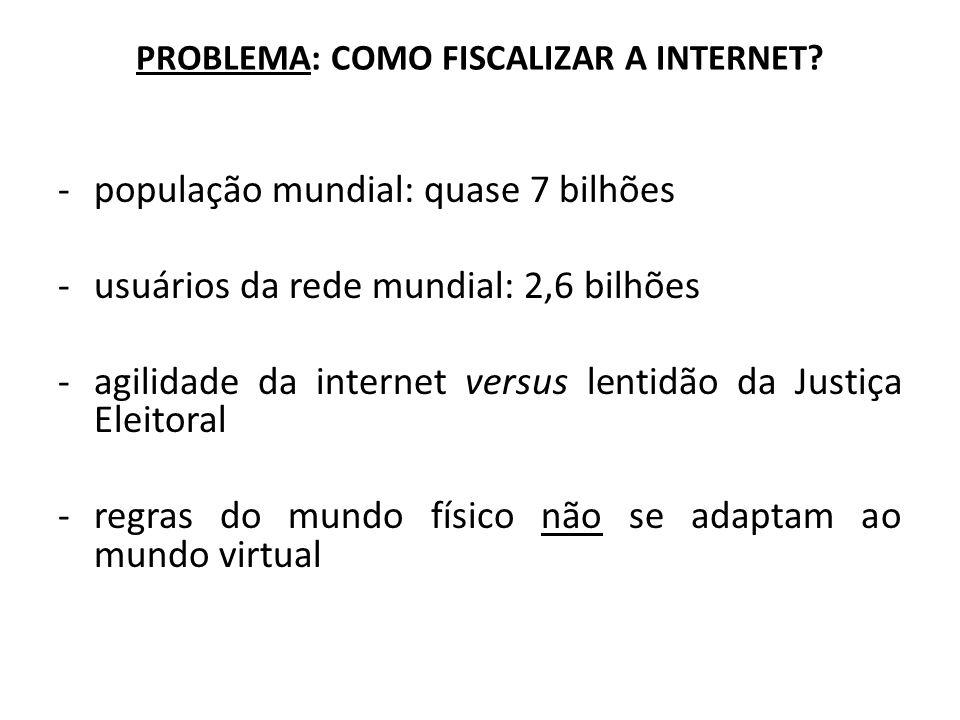 PROBLEMA: COMO FISCALIZAR A INTERNET