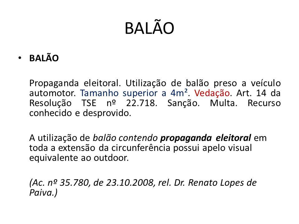 BALÃO BALÃO.