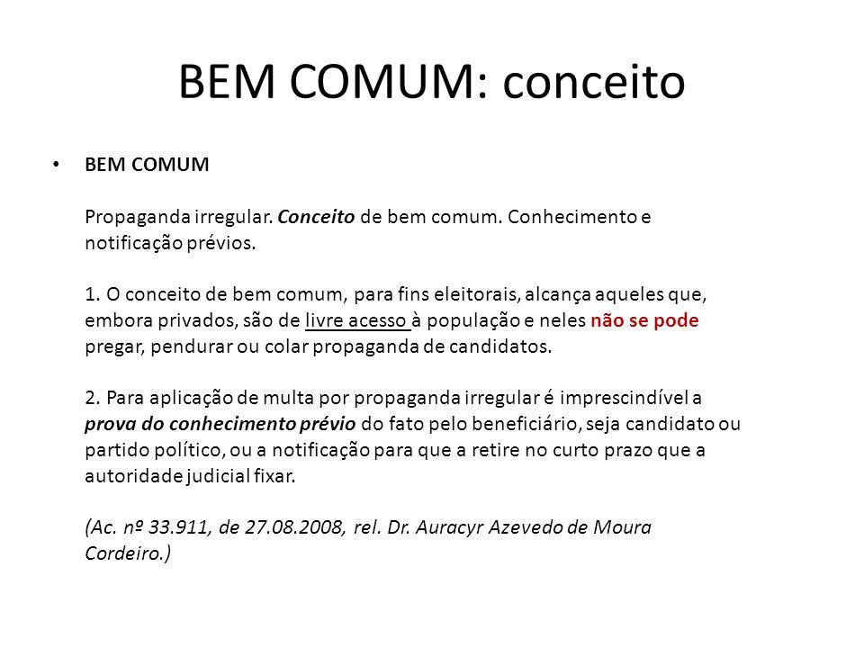 BEM COMUM: conceito BEM COMUM