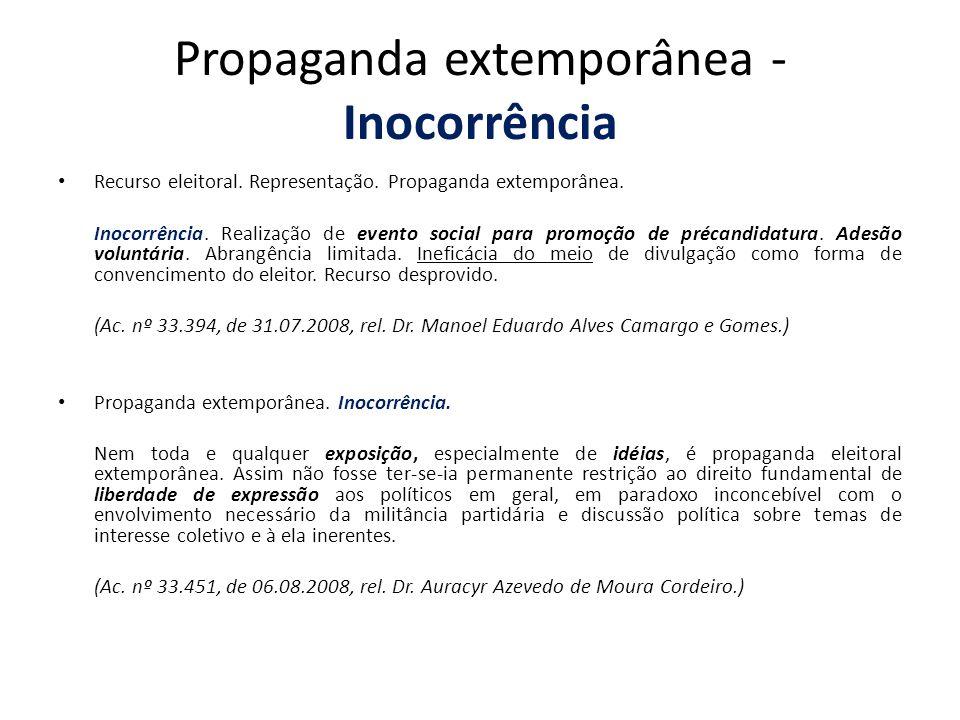 Propaganda extemporânea - Inocorrência
