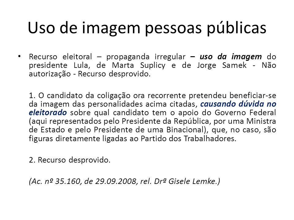 Uso de imagem pessoas públicas