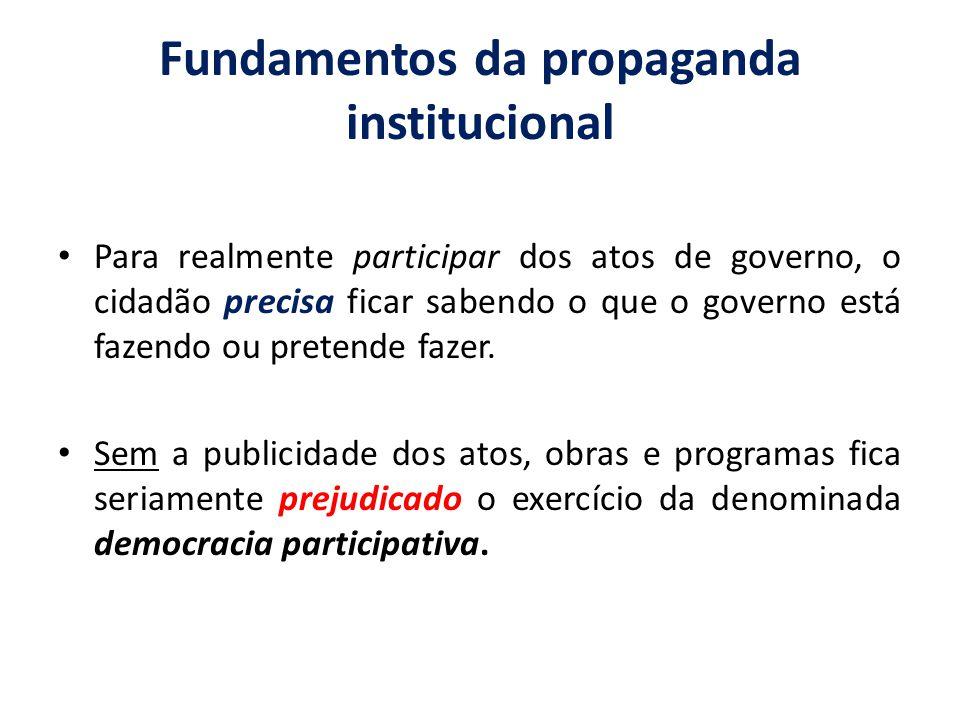 Fundamentos da propaganda institucional