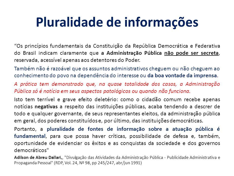 Pluralidade de informações
