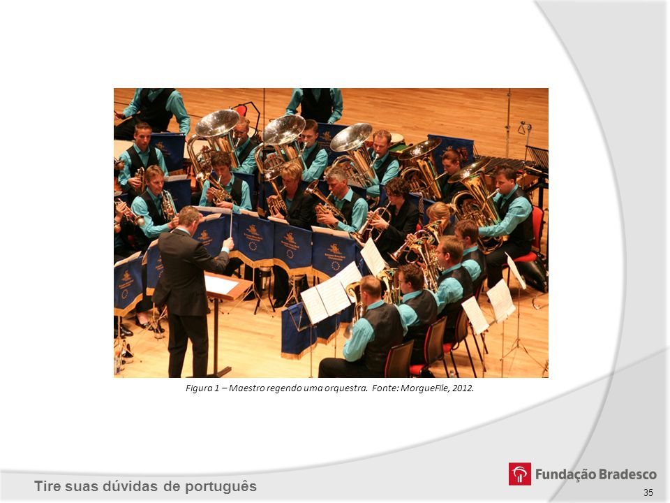Figura 1 – Maestro regendo uma orquestra. Fonte: MorgueFile, 2012.