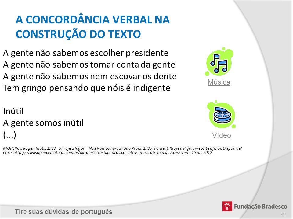 A CONCORDÂNCIA VERBAL NA CONSTRUÇÃO DO TEXTO