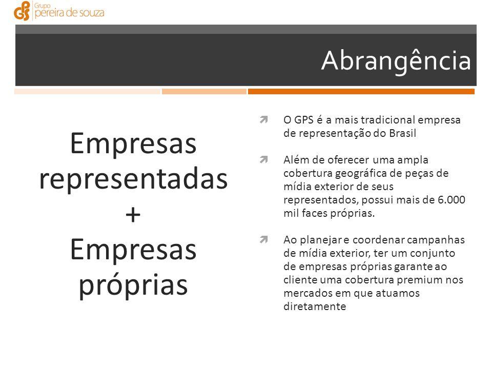 Empresas representadas + Empresas próprias