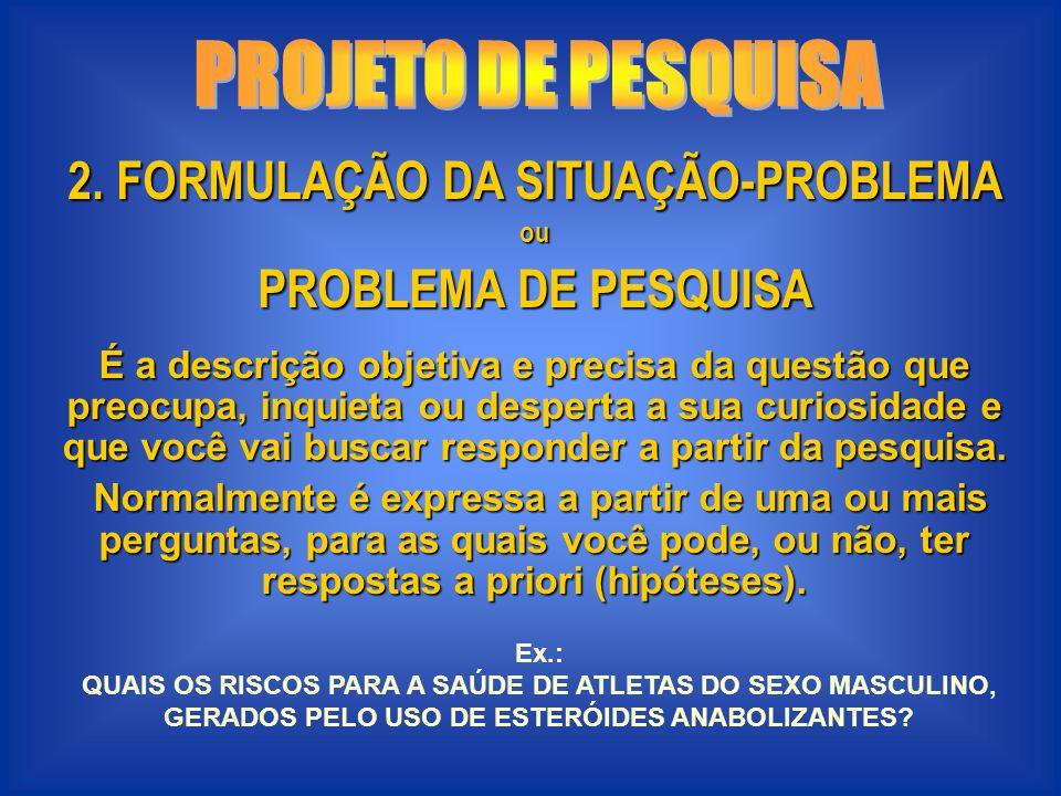 2. FORMULAÇÃO DA SITUAÇÃO-PROBLEMA