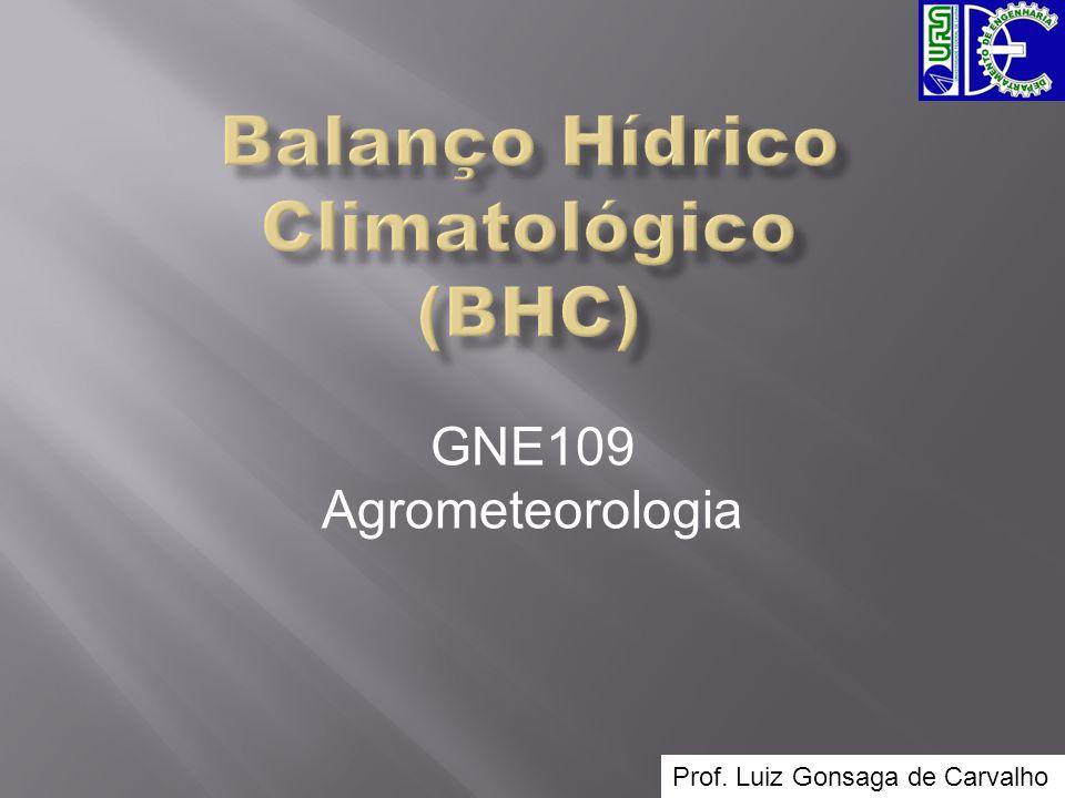 Balanço Hídrico Climatológico (BHC)