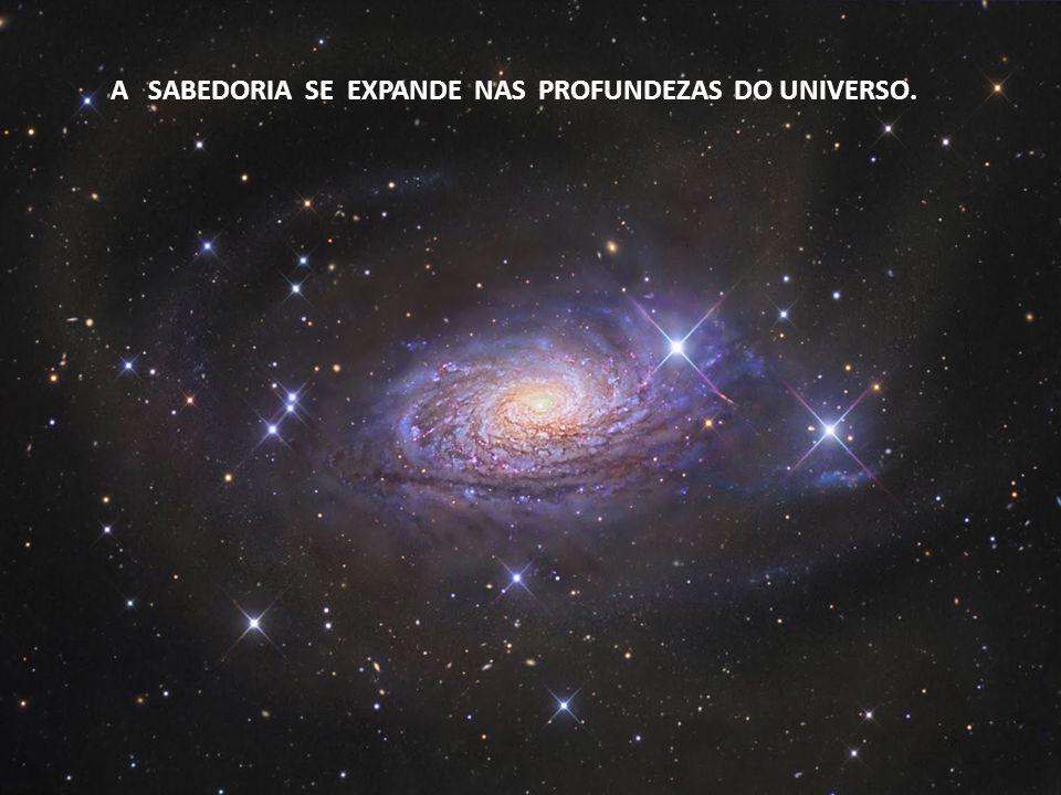 A SABEDORIA SE EXPANDE NAS PROFUNDEZAS DO UNIVERSO.