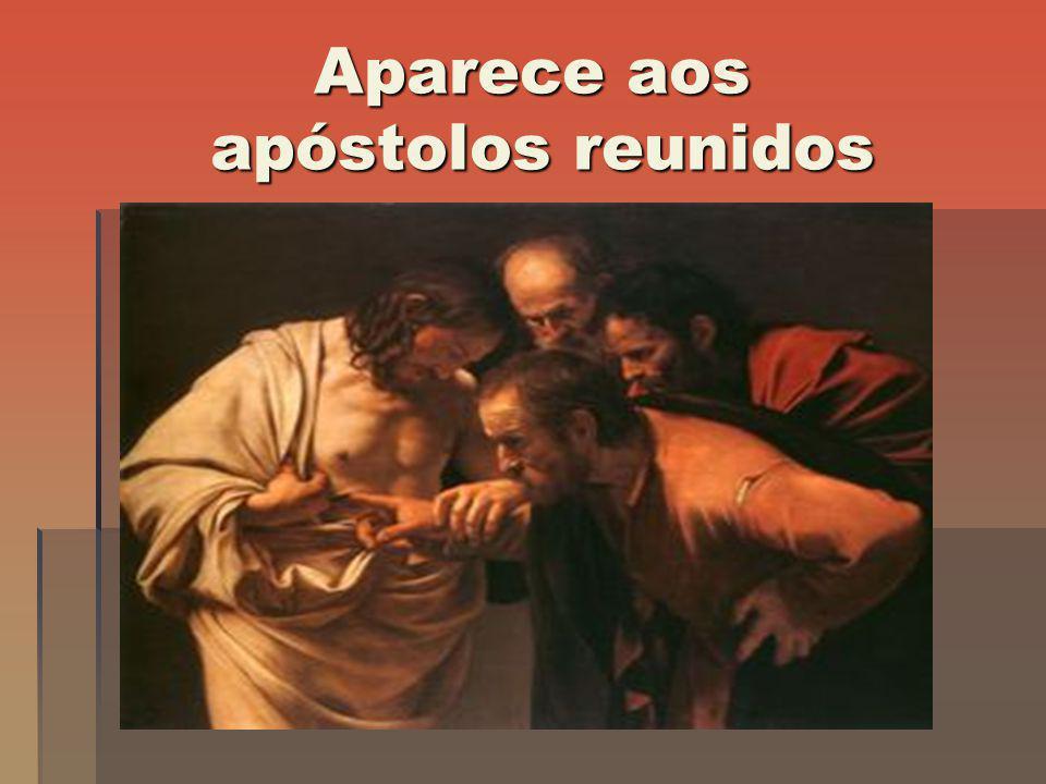 Aparece aos apóstolos reunidos