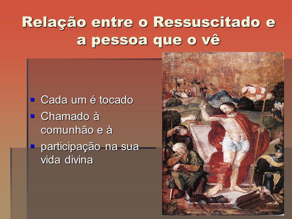 Relação entre o Ressuscitado e a pessoa que o vê