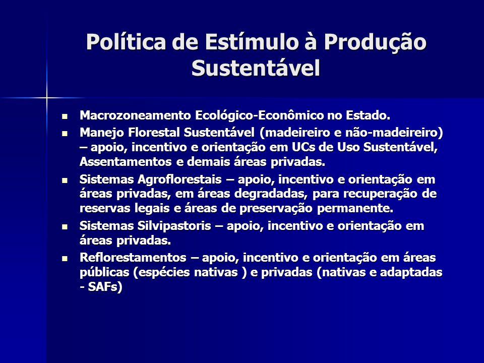 Política de Estímulo à Produção Sustentável