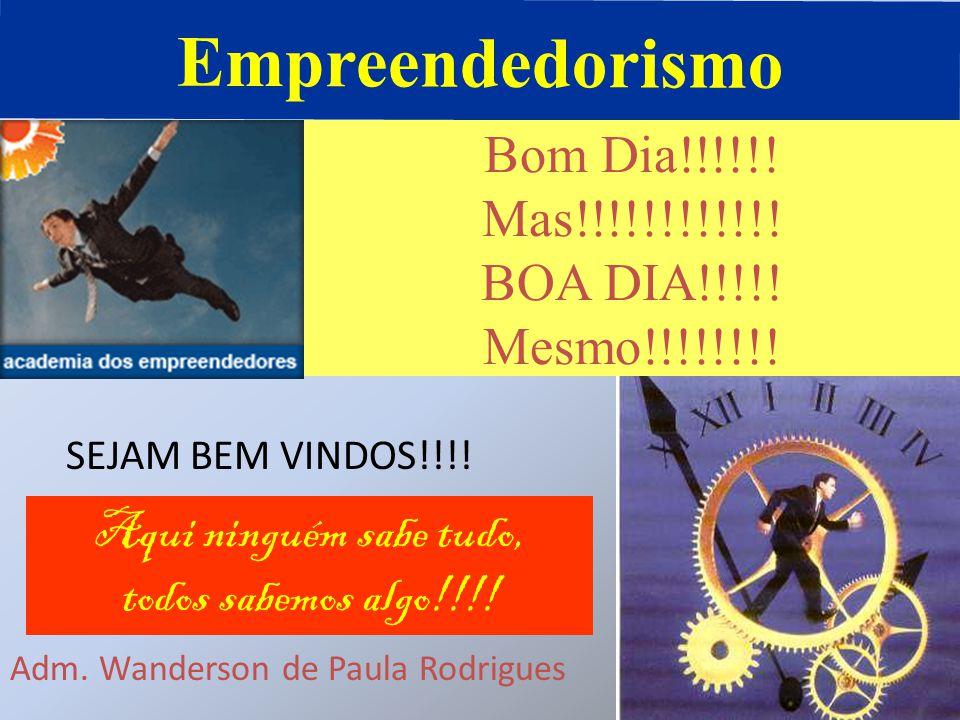 Empreendedorismo Bom Dia!!!!!! Mas!!!!!!!!!!!! BOA DIA!!!!!