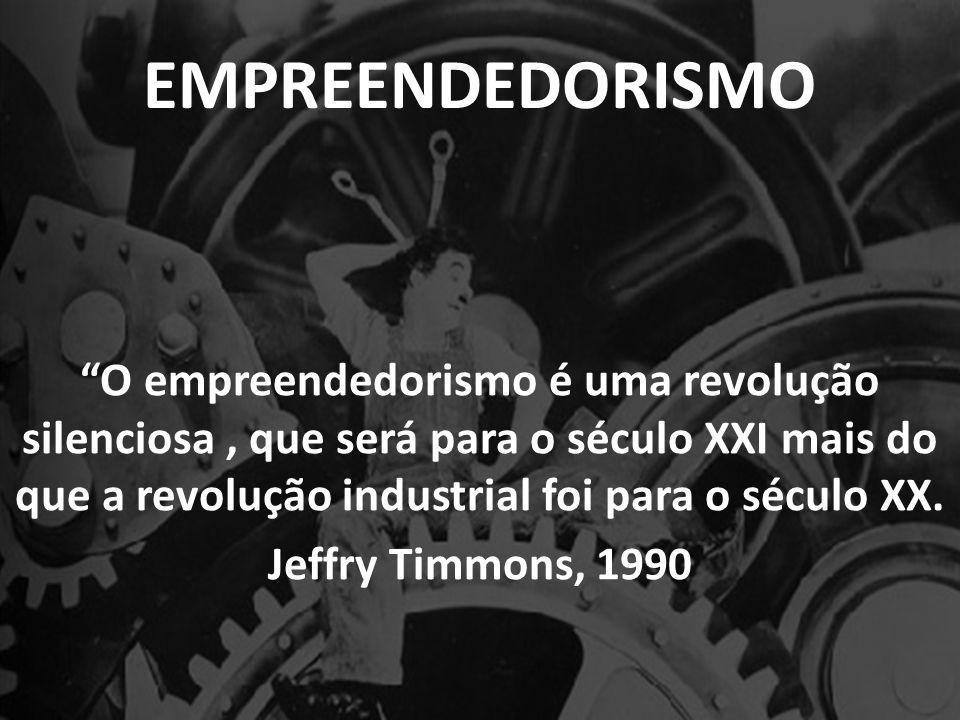 EMPREENDEDORISMO O empreendedorismo é uma revolução silenciosa , que será para o século XXI mais do que a revolução industrial foi para o século XX.