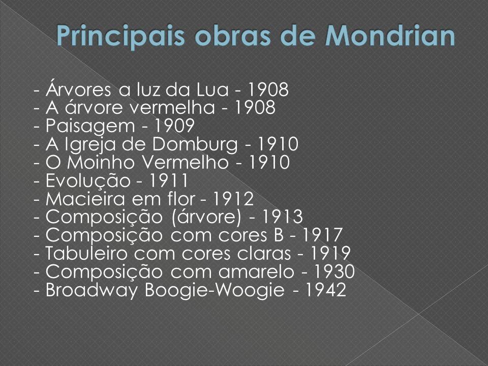 Principais obras de Mondrian