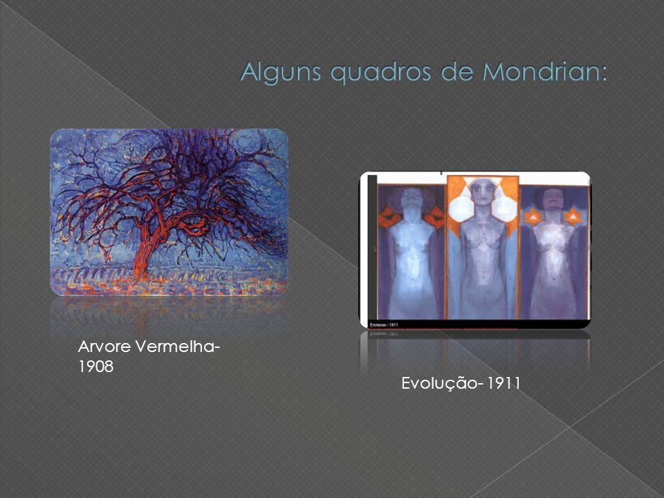 Alguns quadros de Mondrian: