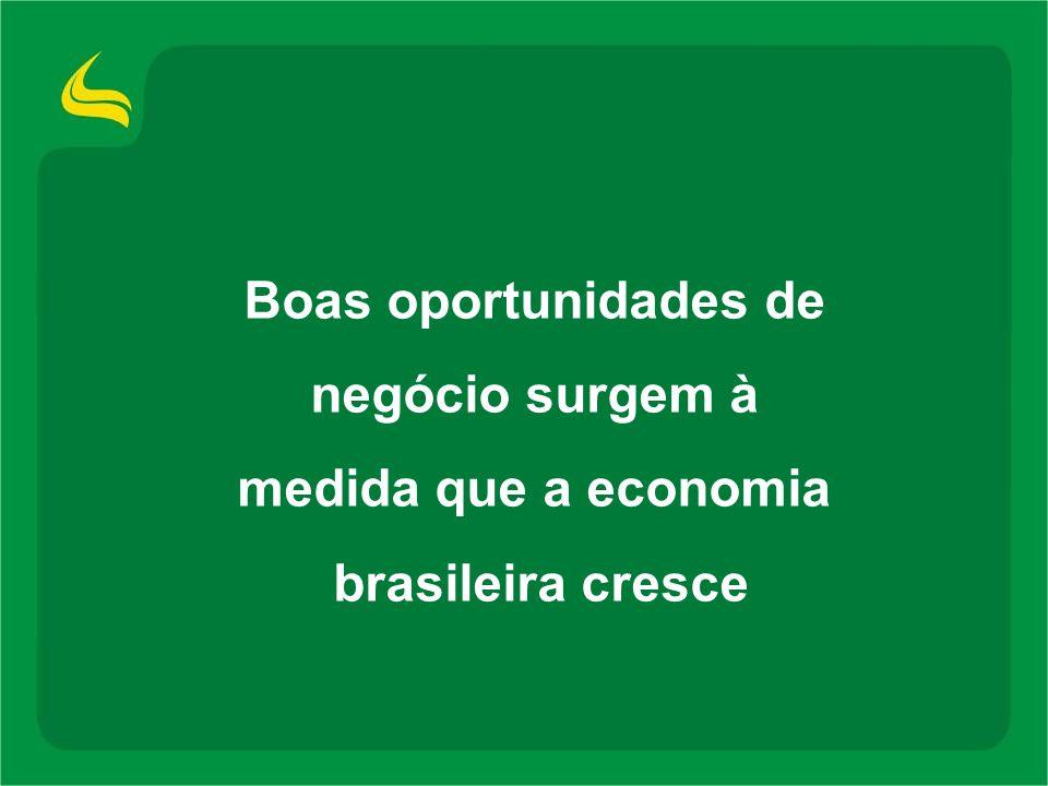 Boas oportunidades de negócio surgem à medida que a economia brasileira cresce