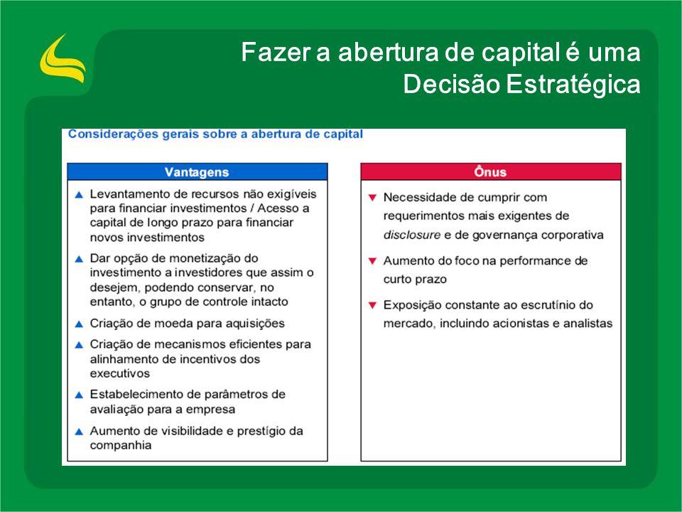 Fazer a abertura de capital é uma Decisão Estratégica