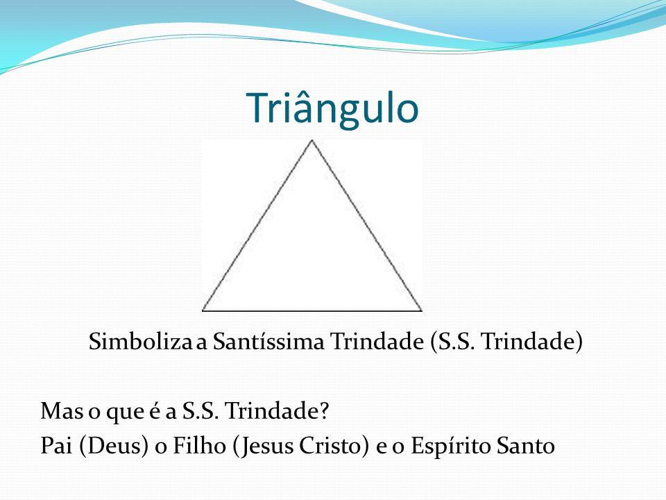 Simboliza a Santíssima Trindade (S.S. Trindade)