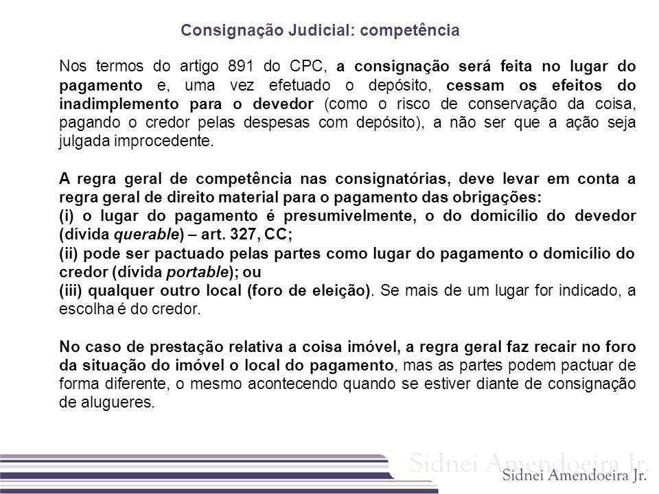 Consignação Judicial: competência