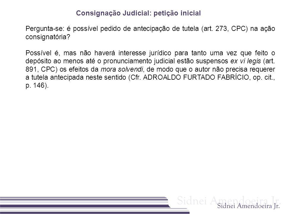 Consignação Judicial: petição inicial