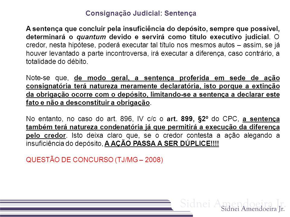 Consignação Judicial: Sentença