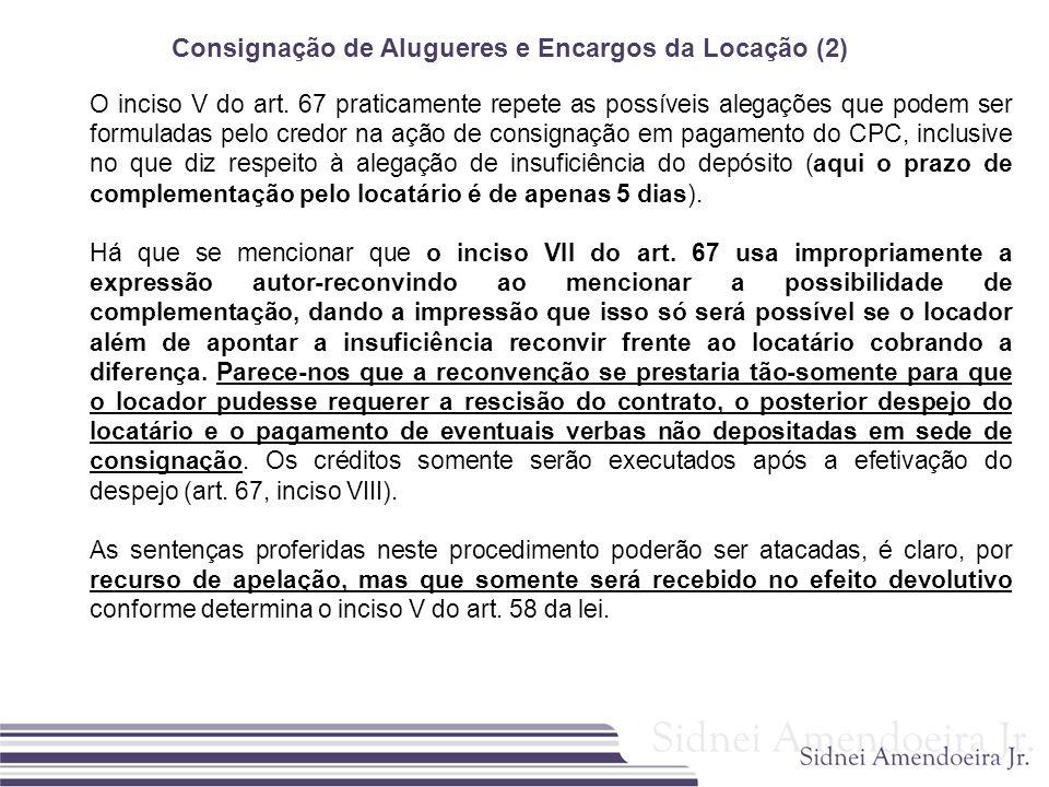Consignação de Alugueres e Encargos da Locação (2)