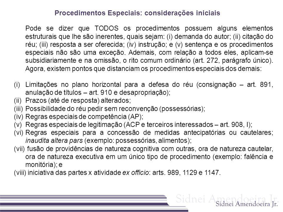 Procedimentos Especiais: considerações iniciais