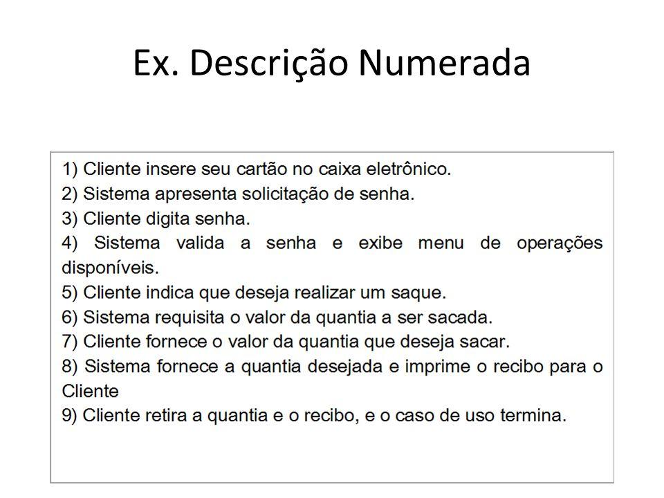 Ex. Descrição Numerada