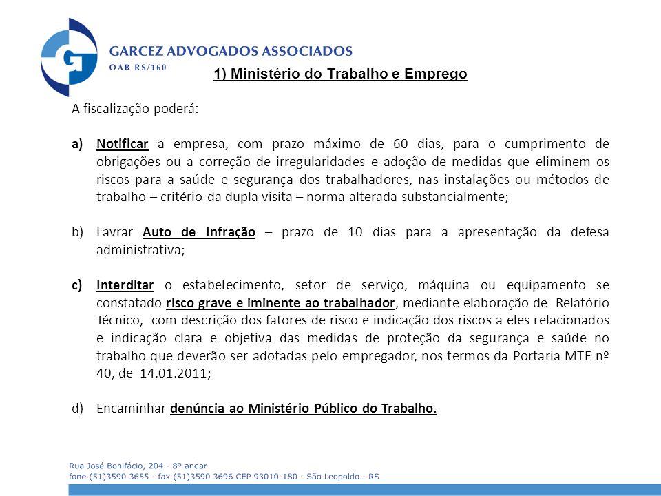 1) Ministério do Trabalho e Emprego
